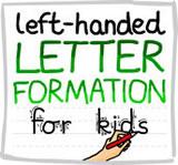 Left handed letter formation guide