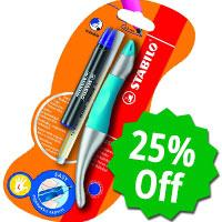 Stabilo left-handed pen